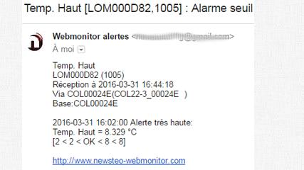 webmonitor alerte email