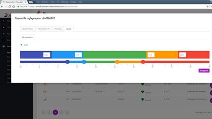 webmonitor paramétrage